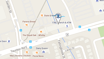 Map of Total Vision Eye Care - Whitby Location